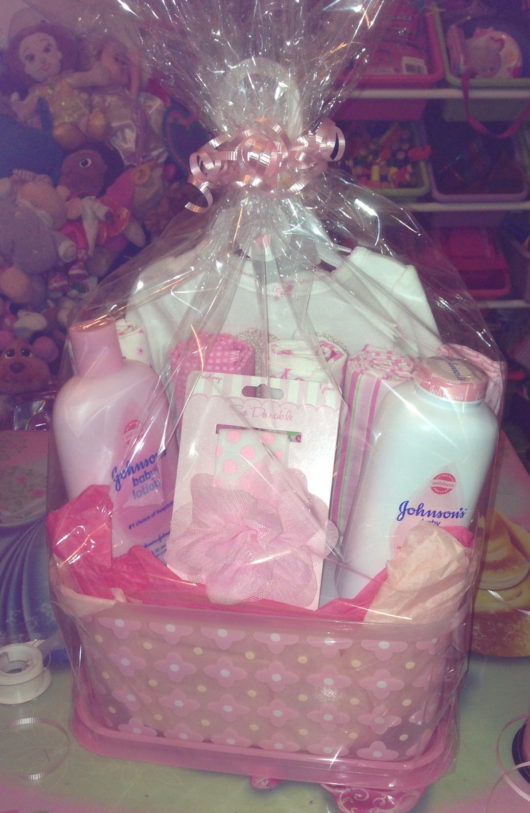 Best ideas about DIY Baby Girl Gifts . Save or Pin DIY baby shower t basket for a girl Now.
