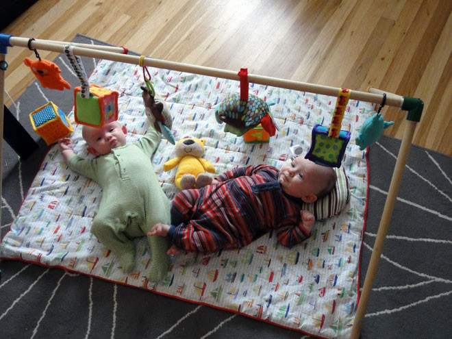 Best ideas about DIY Baby Gym . Save or Pin Avoiding Tacky Plastic Baby Toys Making A Homemade Baby Gym Now.