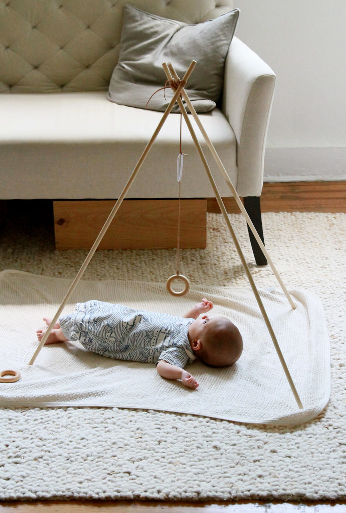Best ideas about DIY Baby Gym . Save or Pin make your own baby gym – Reading My Tea Leaves – Slow Now.