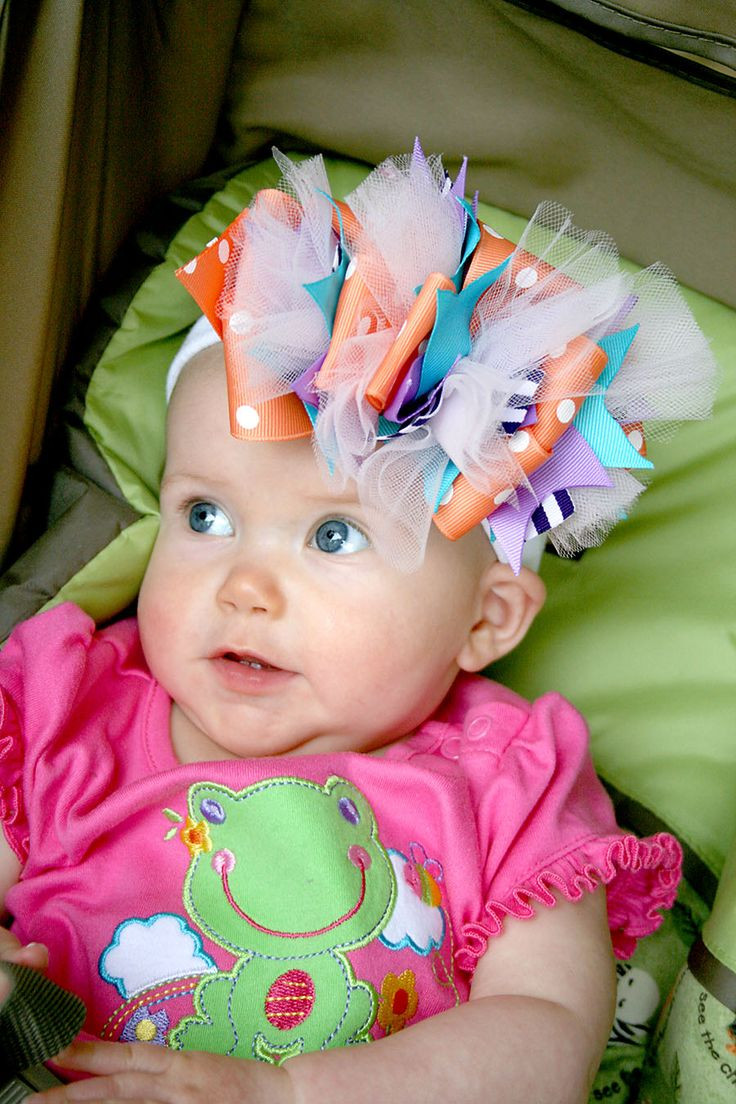 Best ideas about DIY Baby Hair Bows . Save or Pin My name is Momma Ok I admit it I like big bows on MY Now.
