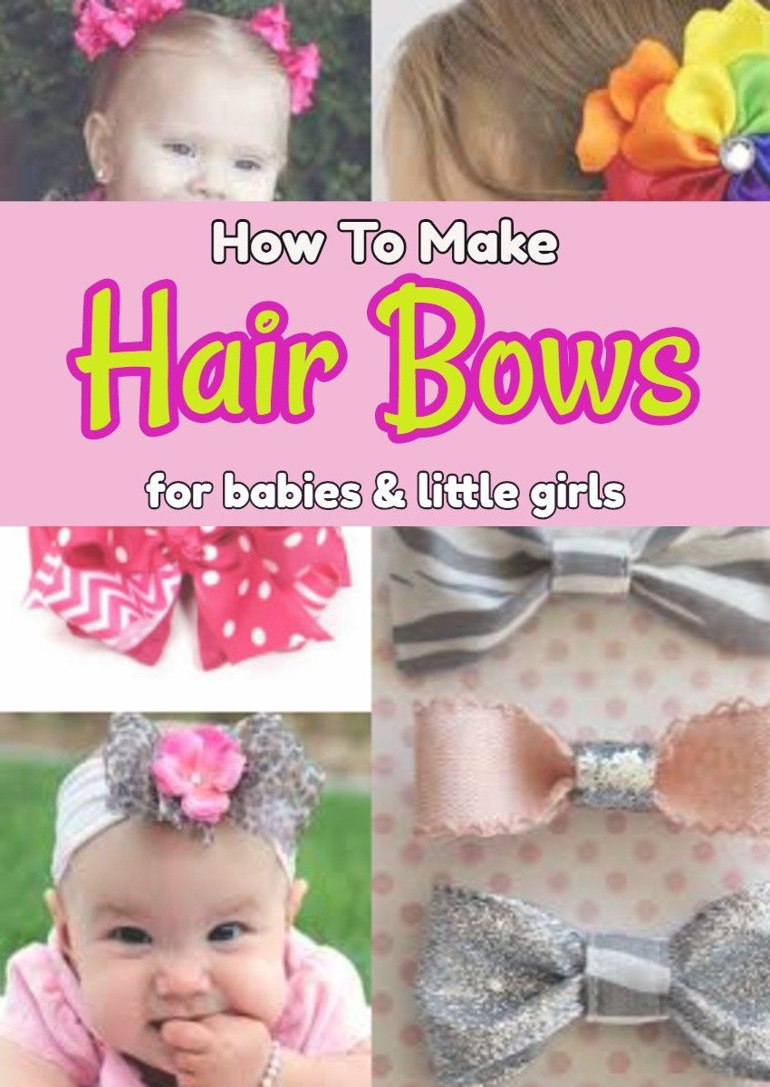 Best ideas about DIY Baby Hair Bows . Save or Pin How To Make Hair Bows for Babies Easy DIY • Now.