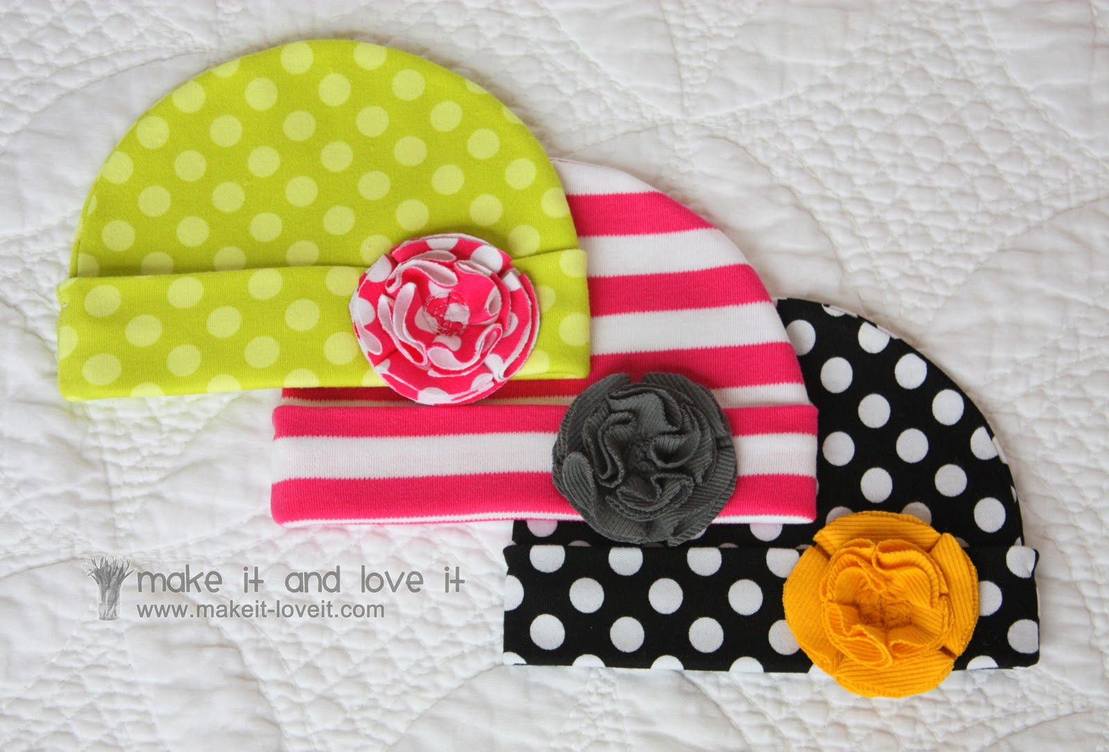 Best ideas about DIY Baby Hats . Save or Pin line Inspiration Baby blanket and hats knit fabric Now.