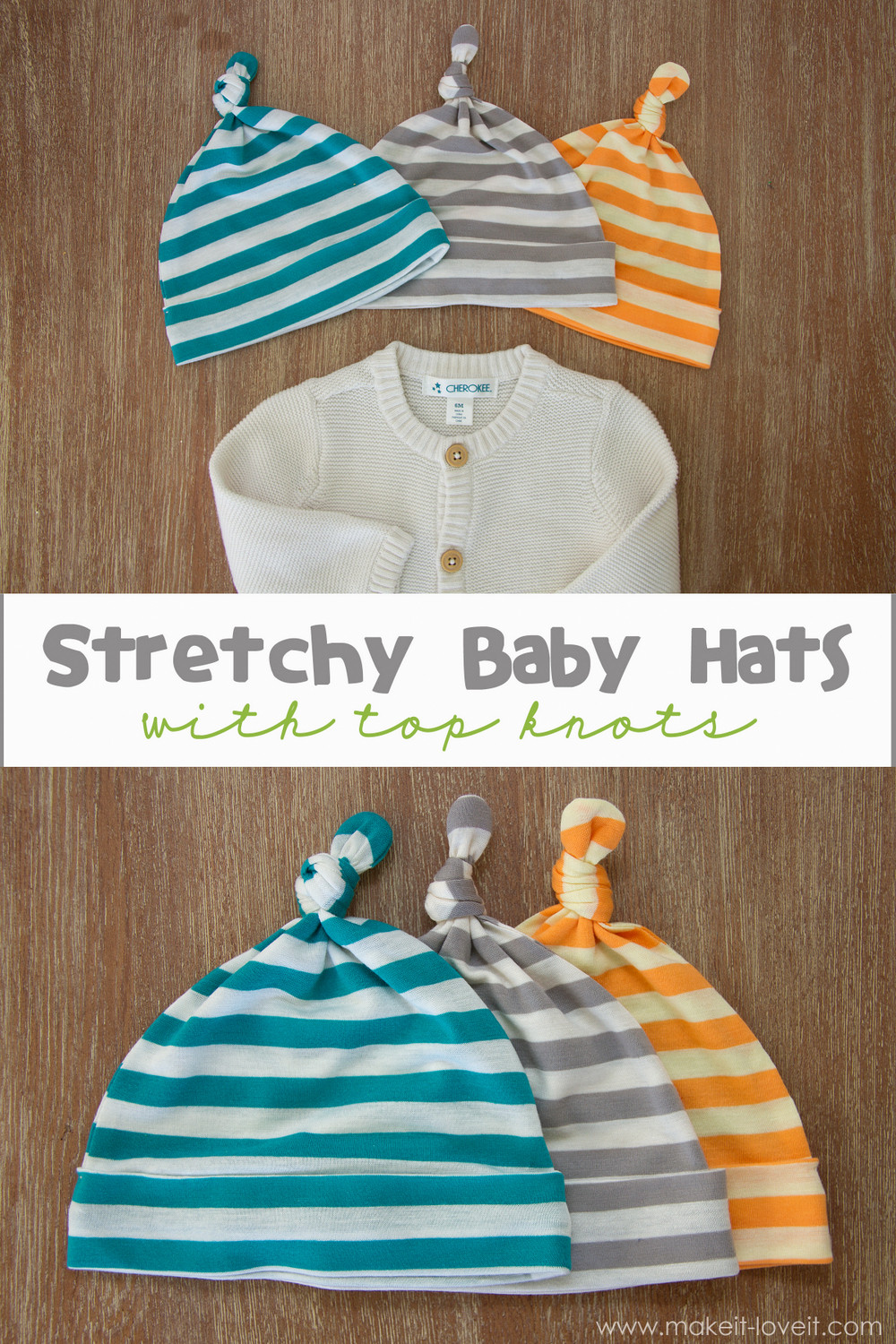 Best ideas about DIY Baby Hats . Save or Pin Stretchy Baby Hats with Top Knots template included Now.