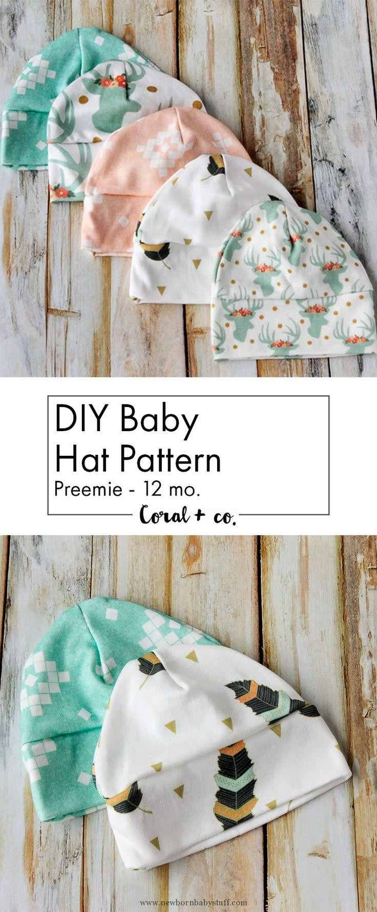 Best ideas about DIY Baby Hats . Save or Pin Crochet Baby Hats DIY Baby Hat Sewing Pattern and Tutorial Now.