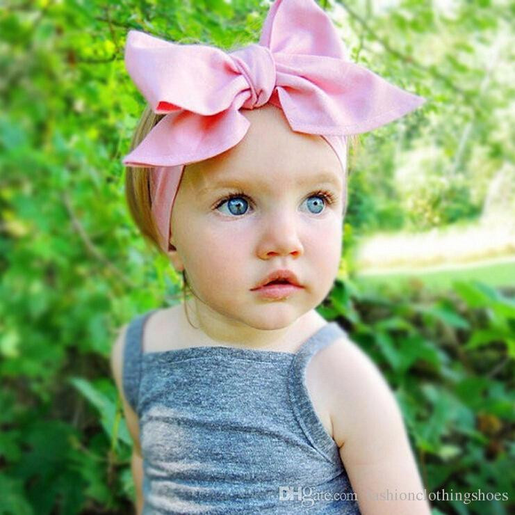 Best ideas about DIY Baby Head Wraps . Save or Pin 2016 Diy Tie Bow Headband Big Bow Cute Dot Print Baby Now.