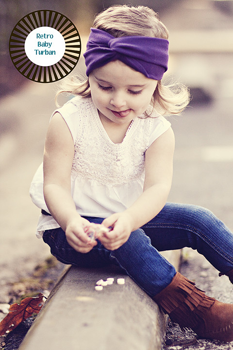 Best ideas about DIY Baby Head Wraps . Save or Pin Retro Baby Turban Tutorial Now.