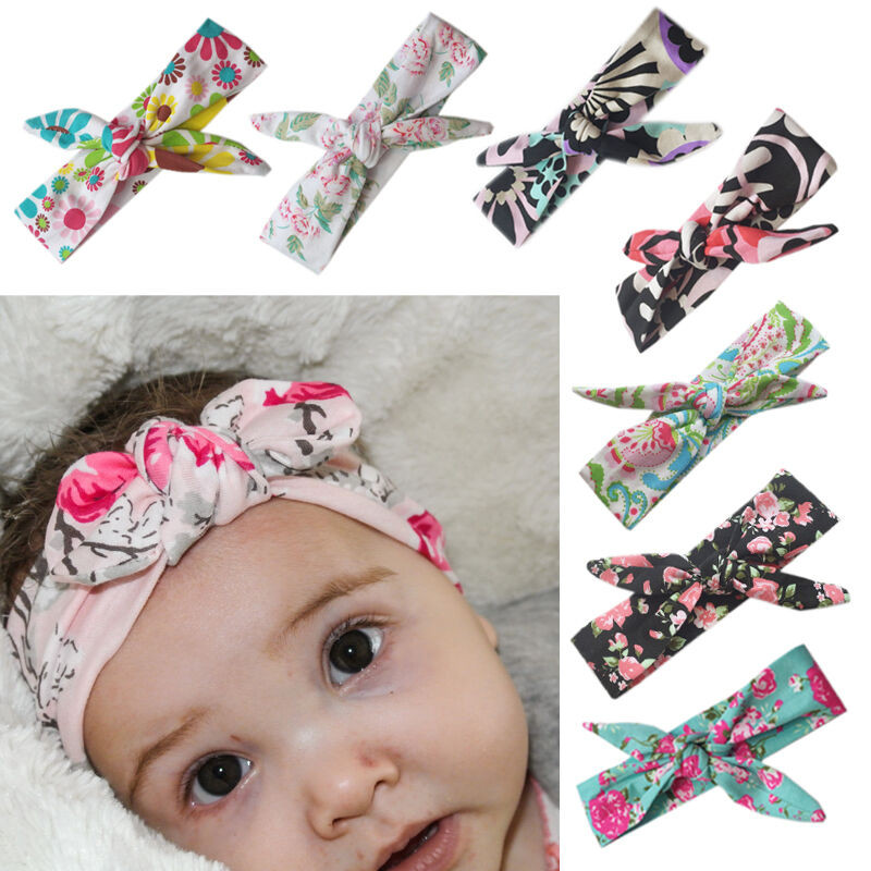 Best ideas about DIY Baby Head Wraps . Save or Pin Baby Girls Bow Headband Rabbit Ear Hair Band Turban Knot Now.