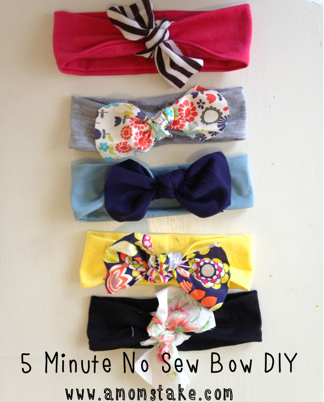 Best ideas about DIY Baby Headbands No Sew . Save or Pin 5 Minute No Sew DIY Headband A Mom s Take Now.
