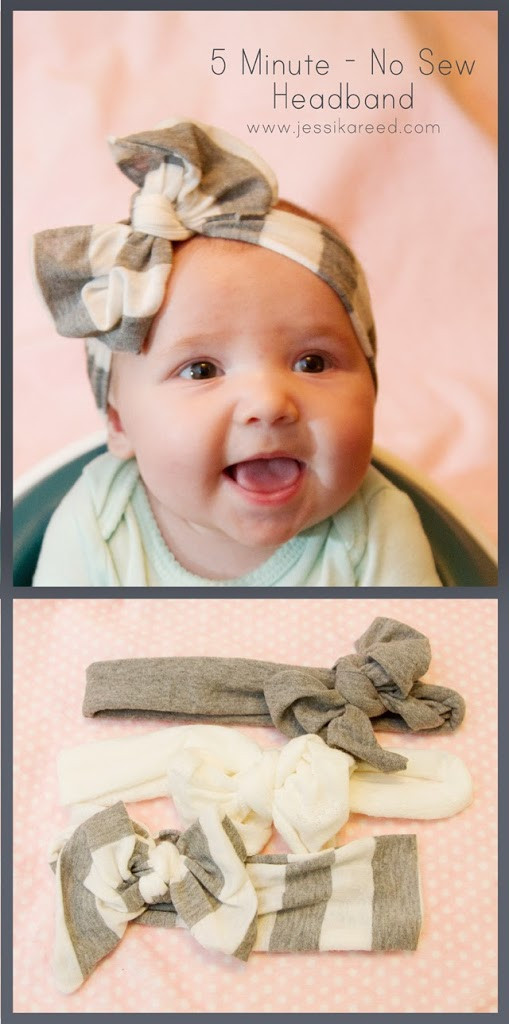 Best ideas about DIY Baby Headbands No Sew . Save or Pin 5 Minute No Sew Headband Hip & Simple Now.