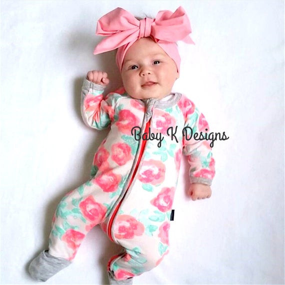Best ideas about DIY Baby Headwrap . Save or Pin Items similar to Newborn Head Wrap Pink Baby Headwrap Now.