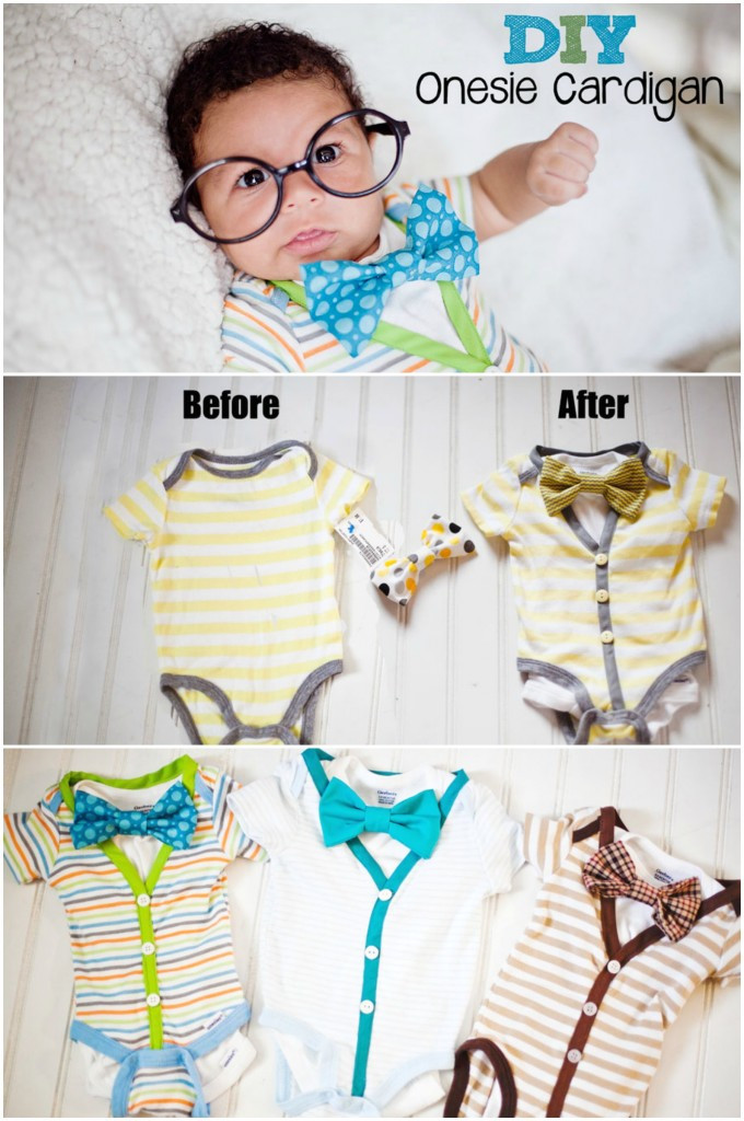 Best ideas about DIY Baby Onesie . Save or Pin Cardigan esie DIY Tutorial Now.