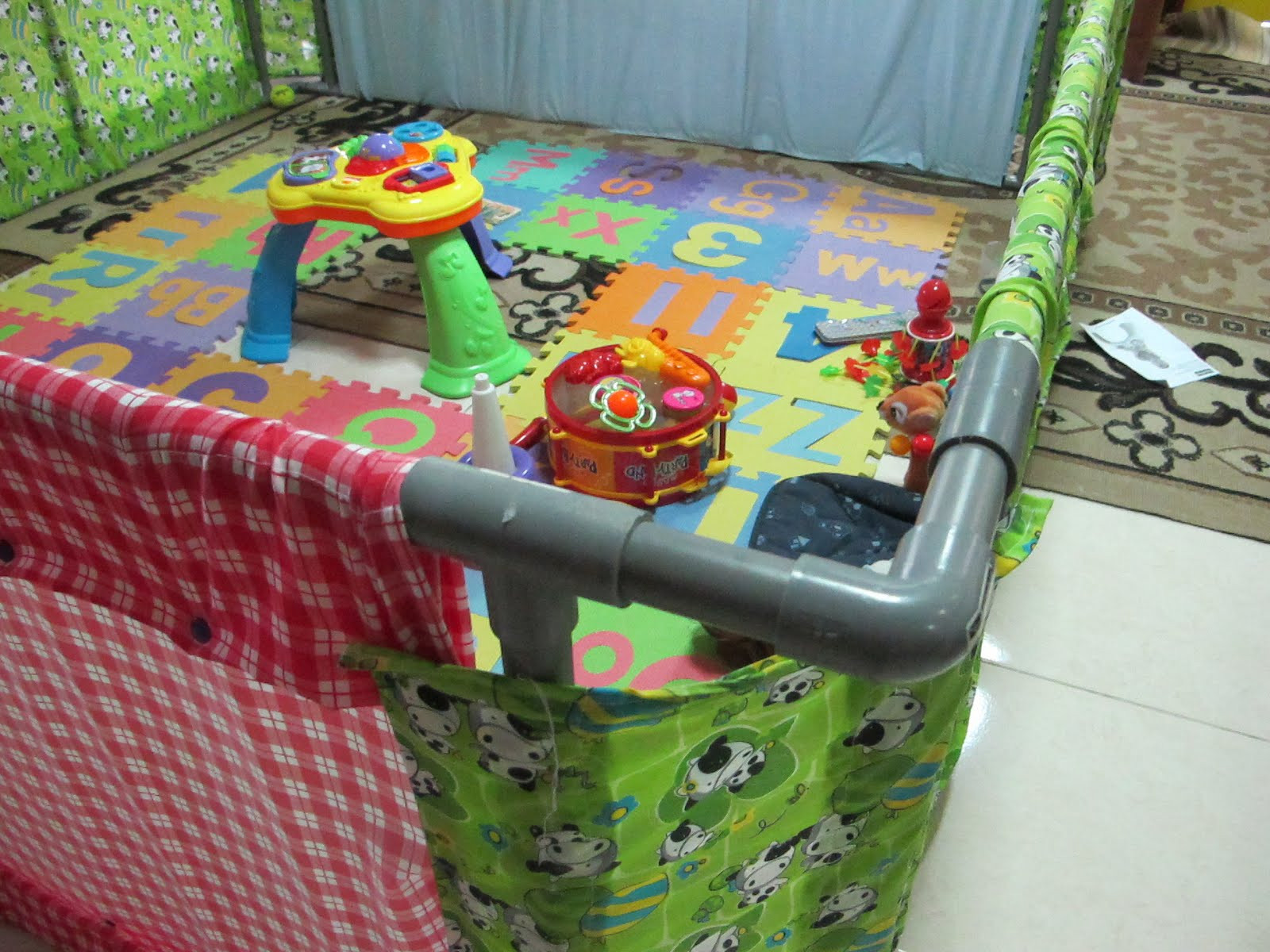 Best ideas about DIY Baby Playpen . Save or Pin Rabbit The Penguin Playpen for the little man Now.