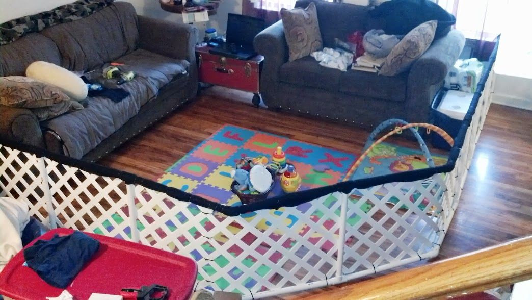 Best ideas about DIY Baby Playpen . Save or Pin My awesome husband s variation on the DIY Play yard or Now.