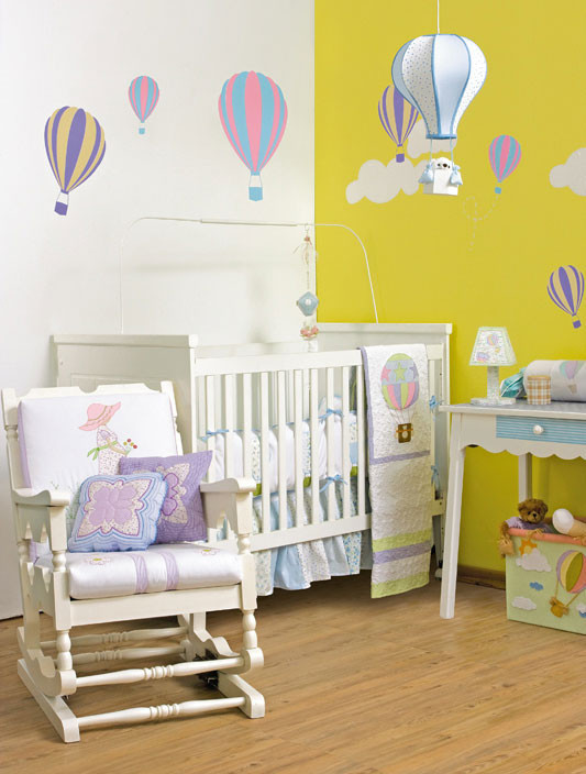 Best ideas about DIY Baby Rooms Ideas . Save or Pin 6 DIY baby room decor ideas Make hot air balloon themed Now.