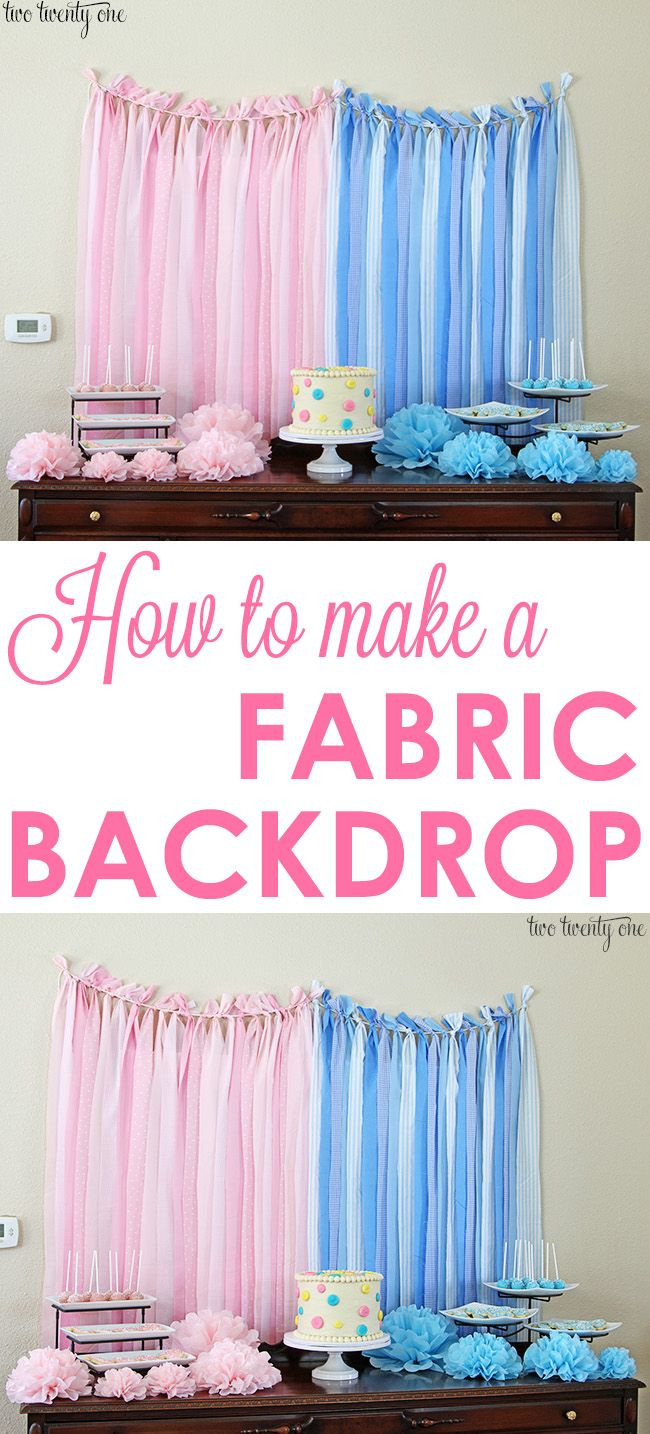 Best ideas about DIY Baby Shower Backdrop . Save or Pin How To Make A Fabric Backdrop Now.
