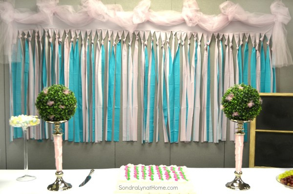 Best ideas about DIY Baby Shower Backdrop . Save or Pin Decorating for a Baby Shower Sondra Lyn at Home Now.