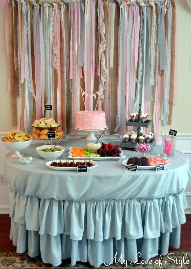 Best ideas about DIY Baby Shower Backdrop . Save or Pin DIY Fabric Garland Backdrop Party time Now.