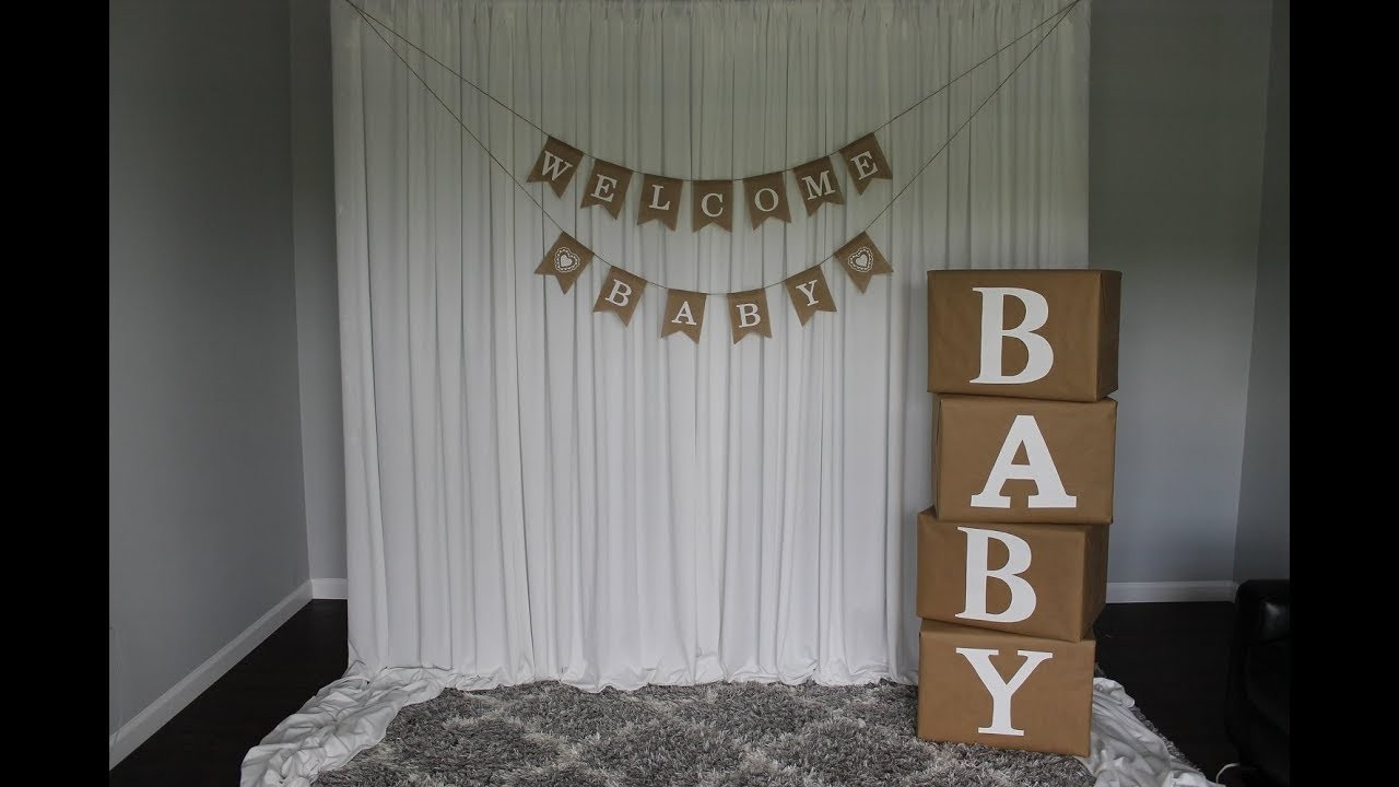 Best ideas about DIY Baby Shower Backdrop . Save or Pin Baby Shower Backdrop DIY Now.