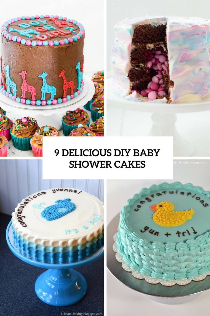 Best ideas about DIY Baby Shower Cakes . Save or Pin 9 Delicious DIY Baby Shower Cakes Shelterness Now.