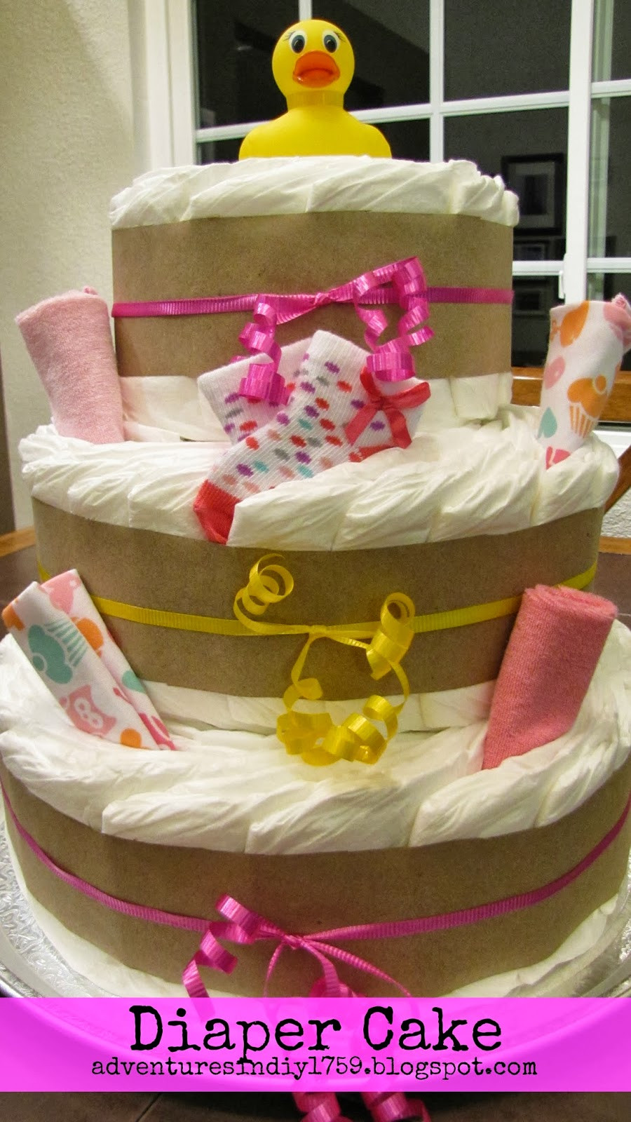 Best ideas about DIY Baby Shower Cakes . Save or Pin Adventures in DIY Baby Shower Diaper Cake Now.