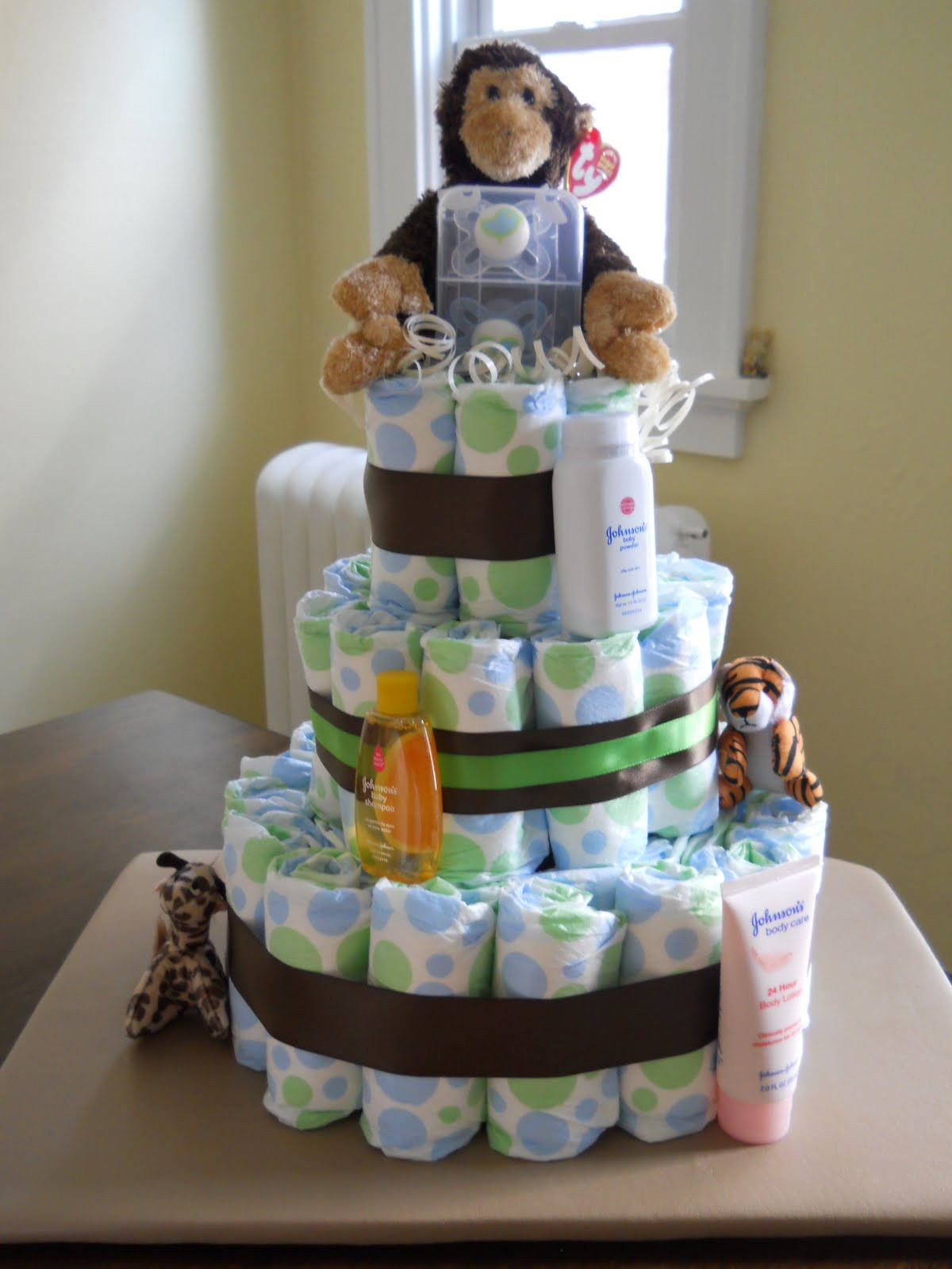 Best ideas about DIY Baby Shower Cakes . Save or Pin Be ing Mrs Juju DIY Diaper Cake Now.