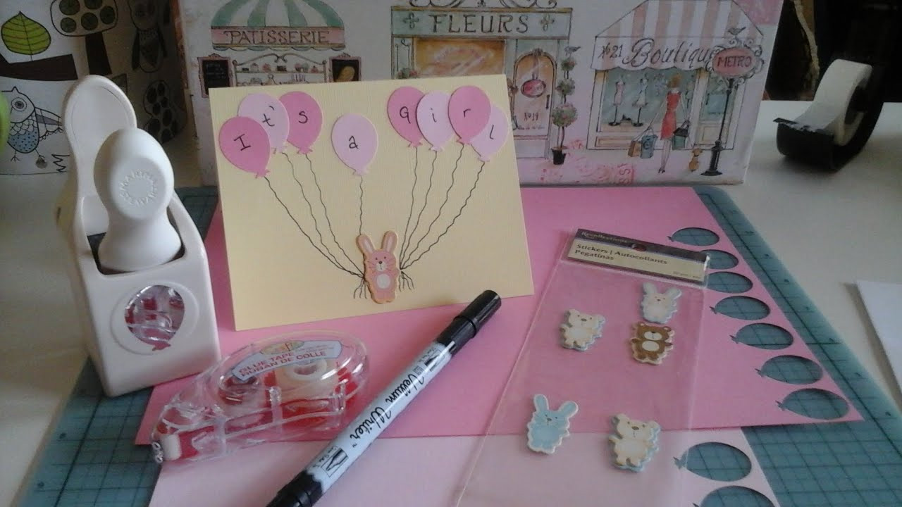 """Best ideas about DIY Baby Shower Card . Save or Pin DIY Baby Shower Card Handmade card """"it s a girl"""" Now."""
