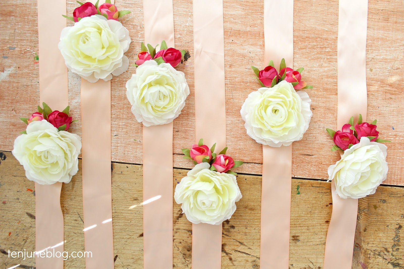 Best ideas about DIY Baby Shower Corsage . Save or Pin Ten June DIY Floral Wristlet Corsage for Baby Bridal Shower Now.
