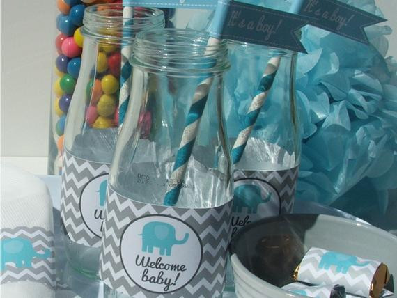 Best ideas about DIY Baby Shower Decorations For Boys . Save or Pin Elephant Baby Shower Decorations Party Package blue gray Now.