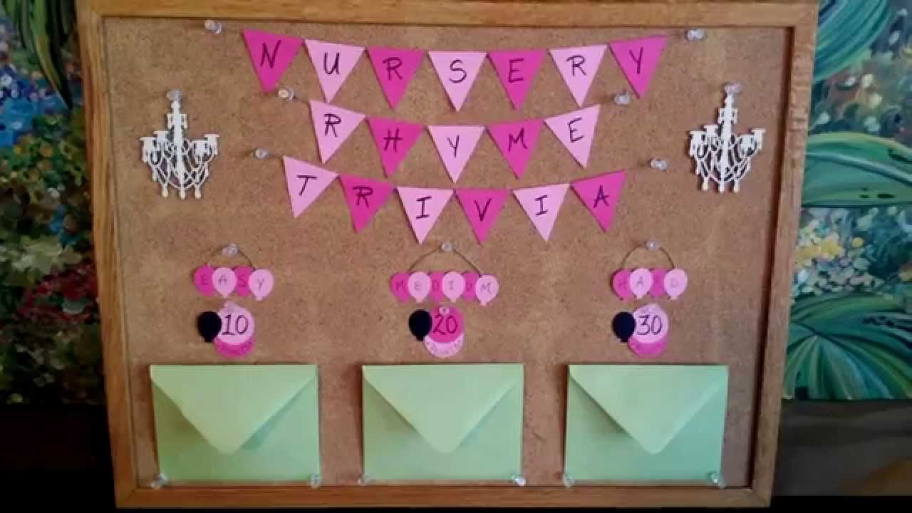 Best ideas about DIY Baby Shower Games . Save or Pin DIY baby shower games Nursery Rhyme Trivia Now.