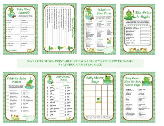 Best ideas about DIY Baby Shower Games . Save or Pin Frog Baby Shower Games DIY Frog Games Printable Frog Baby Now.