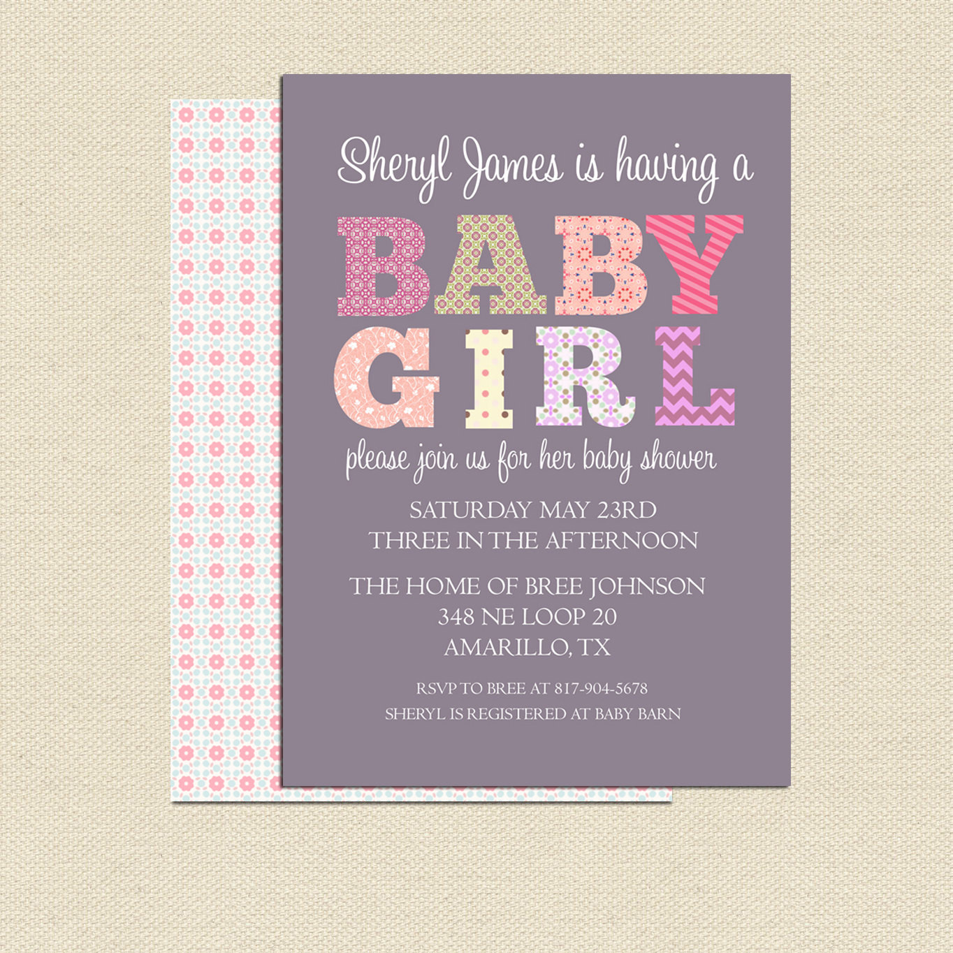 Best ideas about DIY Baby Shower Invitation . Save or Pin DIY Printable Baby Shower Invitation For Girl No 2 Now.