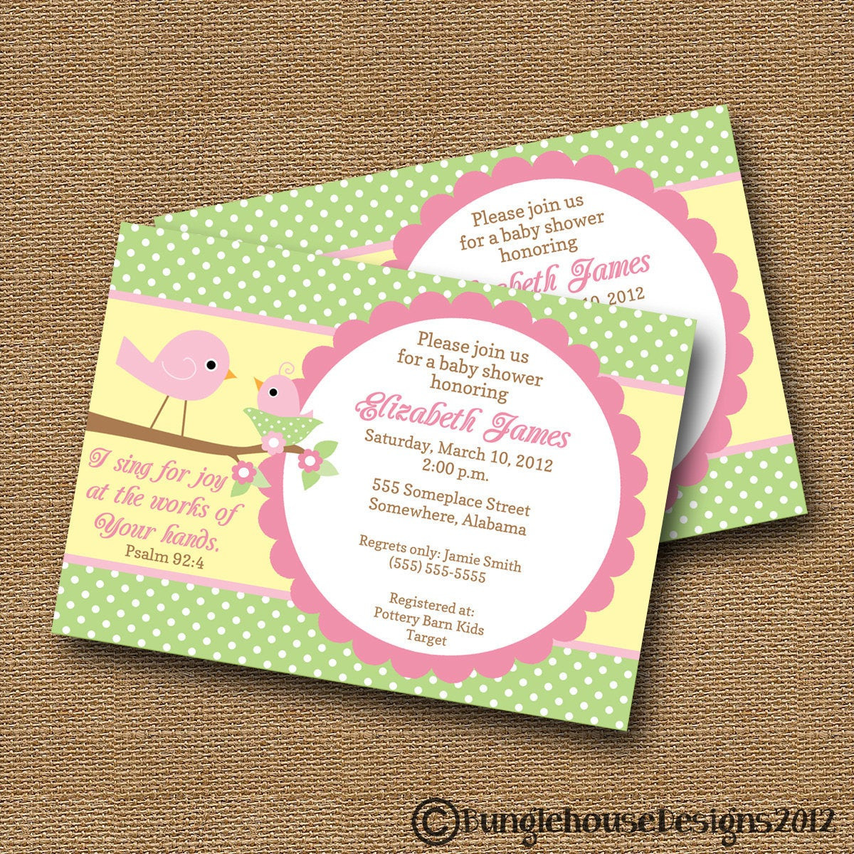 Best ideas about DIY Baby Shower Invitation . Save or Pin Bird Baby Shower Invitation DIY PRINTABLE Baby Girl Christian Now.