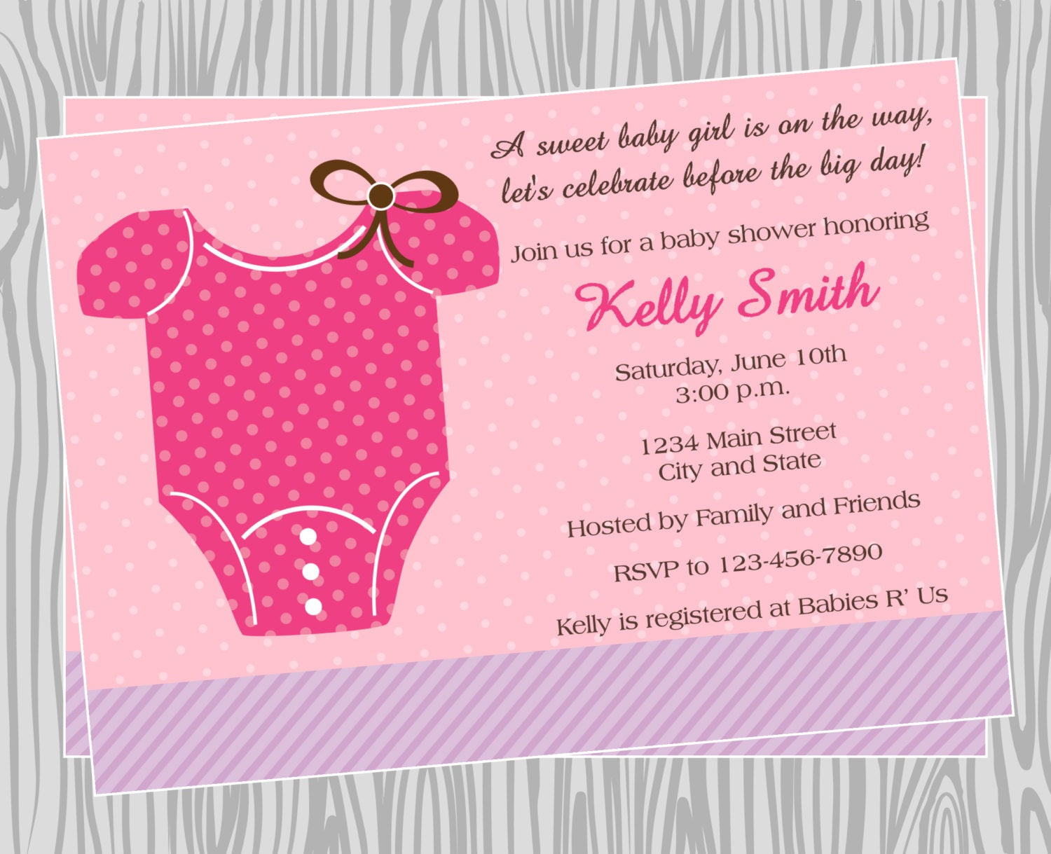 Best ideas about DIY Baby Shower Invitation . Save or Pin DIY Baby Girl esie Baby Shower Invitation Coordinating Now.