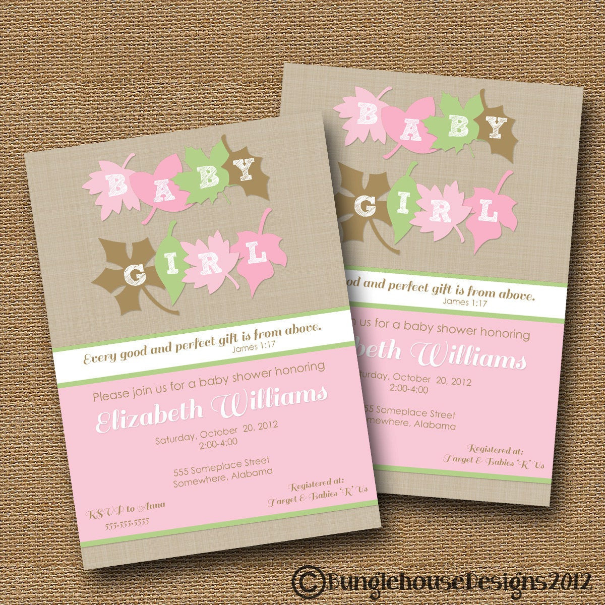 Best ideas about DIY Baby Shower Invitation . Save or Pin Fall Baby Shower Invitation DIY PRINTABLE Baby Girl Invite Now.