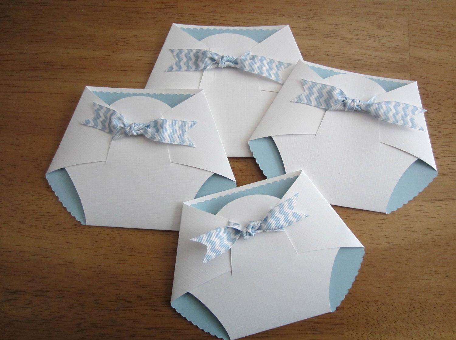 Best ideas about DIY Baby Shower Invites . Save or Pin Handmade Baby Shower Invitation Diaper Shape w chevron Now.