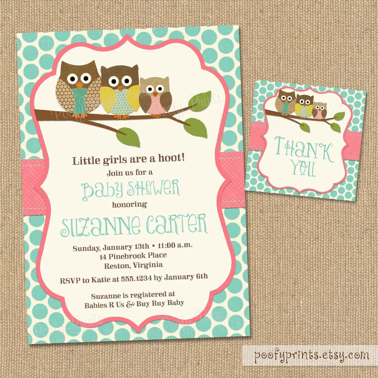 Best ideas about DIY Baby Shower Invites . Save or Pin Owl Baby Shower Invitations DIY Printable Baby Girl Shower Now.