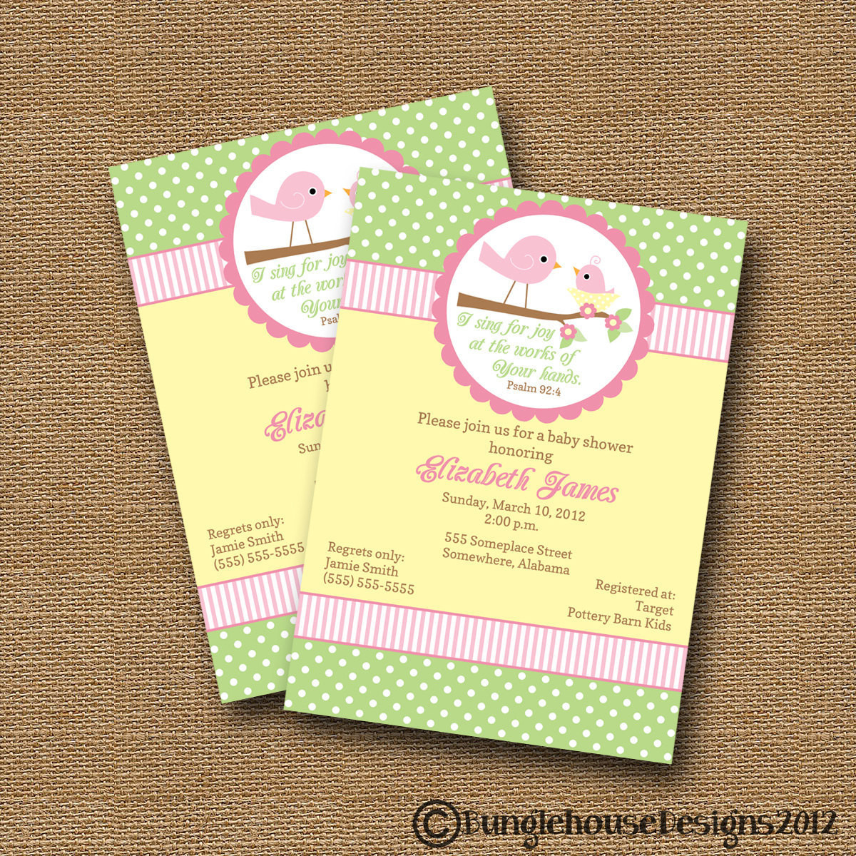 Best ideas about DIY Baby Shower Invites . Save or Pin Bird Baby Shower Invitation DIY PRINTABLE Baby Girl Christian Now.