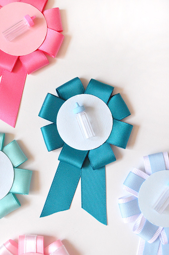 Best ideas about DIY Baby Shower Pins . Save or Pin DIY Gender Reveal Baby Shower Pins Now.