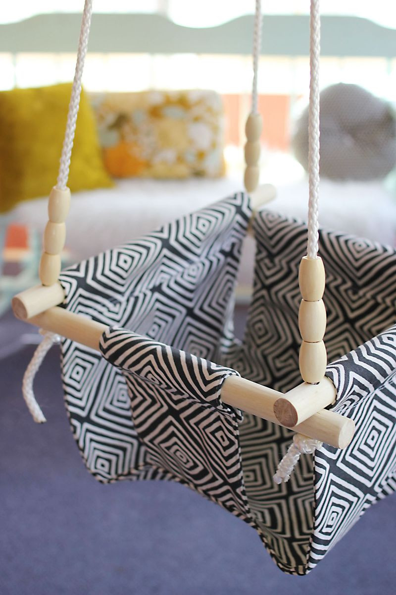 Best ideas about DIY Baby Swing . Save or Pin Baby and Toddler Swing DIY – A Beautiful Mess Now.