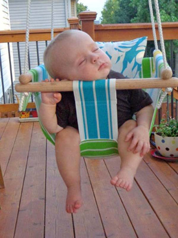 Best ideas about DIY Baby Swing . Save or Pin 22 Amazingly DIY Patio and Garden Swings Now.