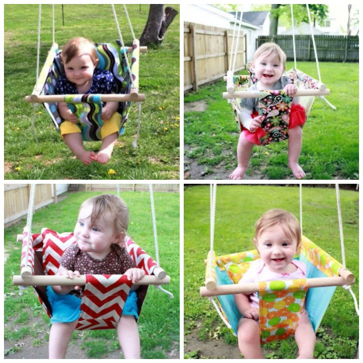 Best ideas about DIY Baby Swing . Save or Pin Wonderful DIY Hammock Type Baby Swing Now.