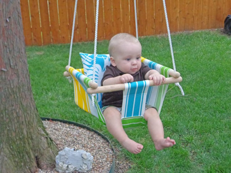 Best ideas about DIY Baby Swing . Save or Pin DIY Tree Swing For A Baby Now.