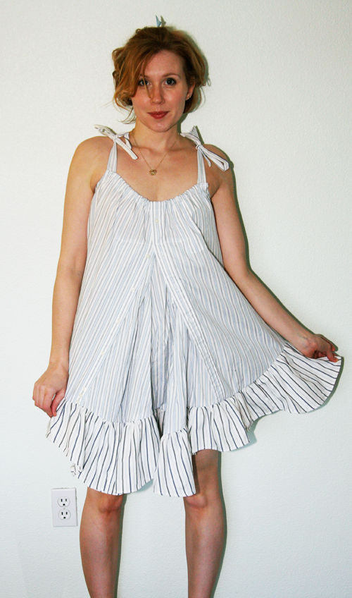 Best ideas about DIY Babydoll Nightie . Save or Pin How to Make a Babydoll Nightie Dress from 2 Men s Shirts Now.