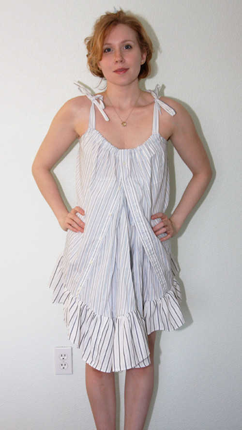 Best ideas about DIY Babydoll Nightie . Save or Pin DIY 2 Men s Shirts to Cute Babydoll Dress Chic Creative Now.