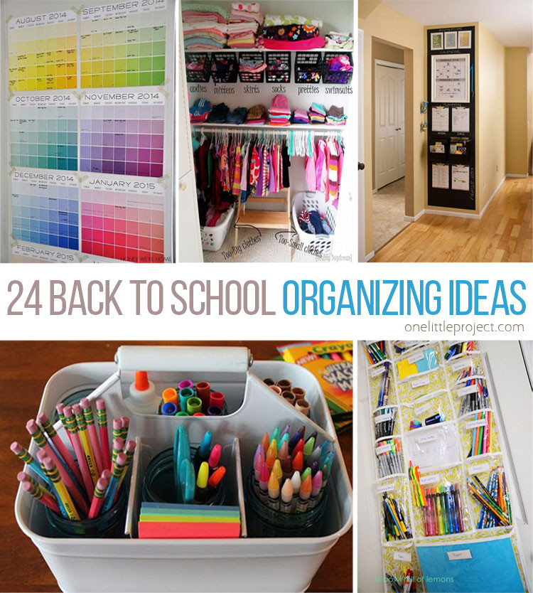 Best ideas about DIY Back To School Organization . Save or Pin 24 Back to School Organization Ideas Now.
