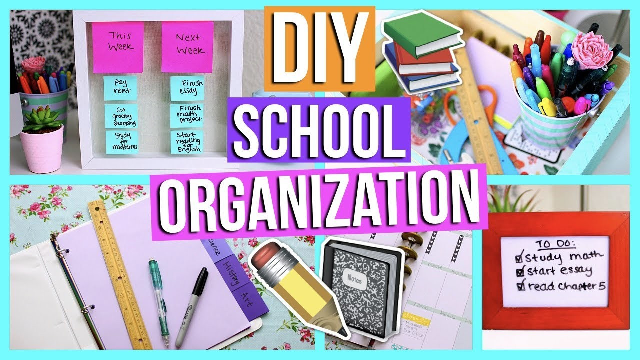 Best ideas about DIY Back To School Organization . Save or Pin DIY Back to School Organization How to Stay Organized for Now.