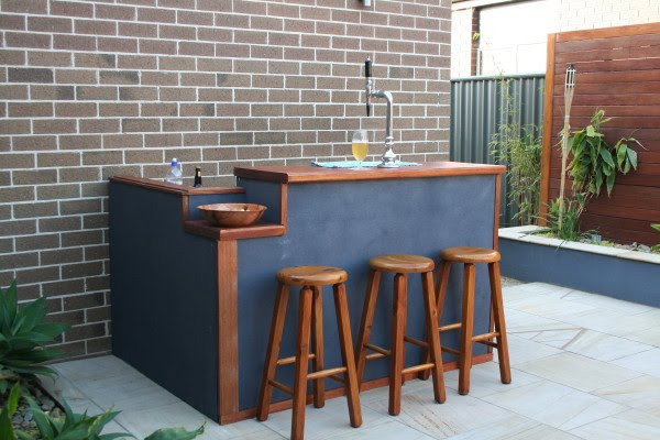 Best ideas about DIY Backyard Bars . Save or Pin Moving on up DIY Outdoor bar Now.