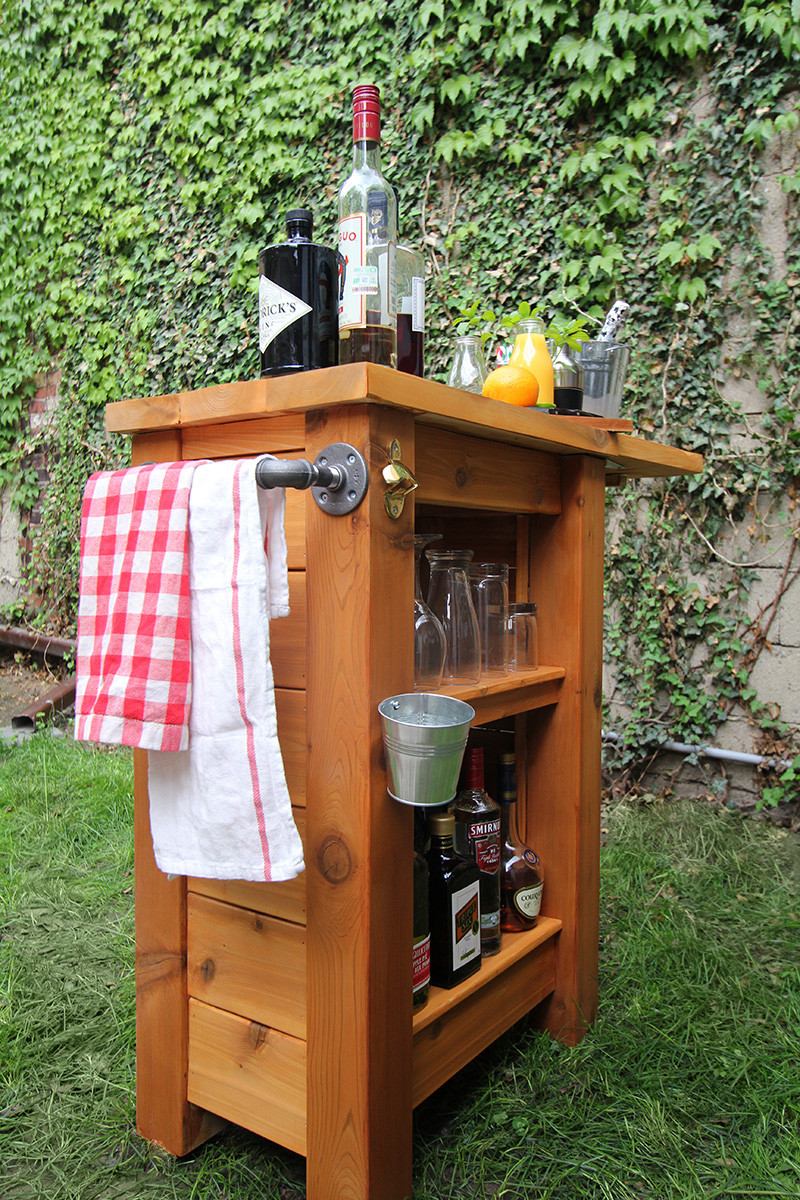Best ideas about DIY Backyard Bars . Save or Pin DIY Outdoor Bar Merry Mag Storefront Life Now.