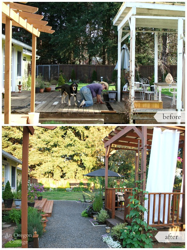 Best ideas about DIY Backyard Makeovers . Save or Pin DIY Backyard Makeover Before and After Now.