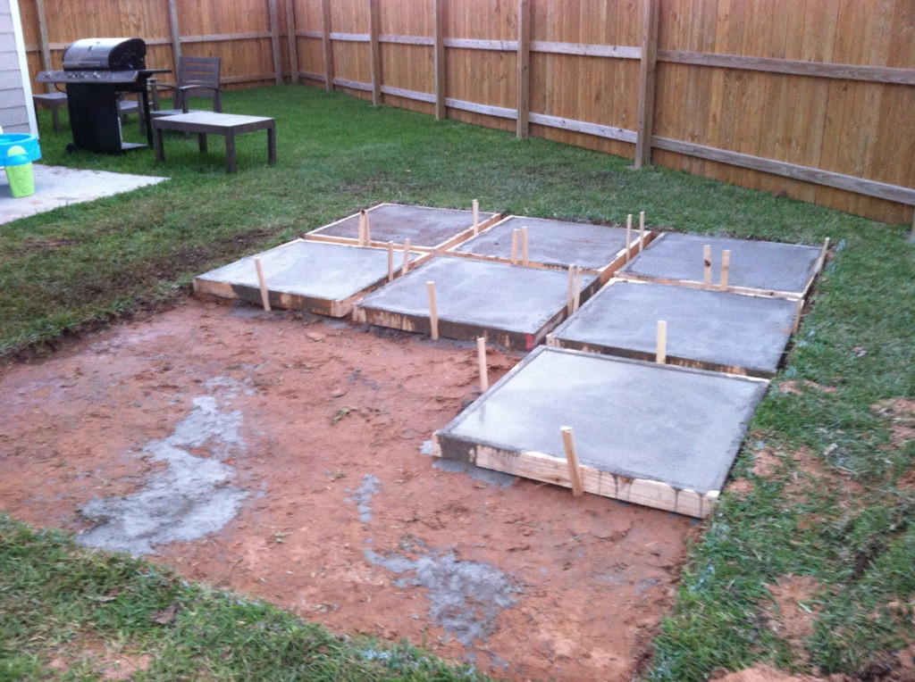 Best ideas about Diy Backyard Patio . Save or Pin A Roll Acosta Life DIY Backyard Patio Part 2 Now.